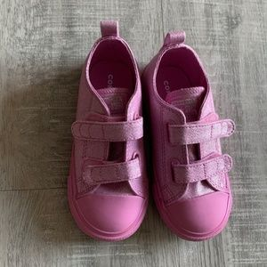 Converse 2V Pink Sparkle Glitter - Size 9 Toddle